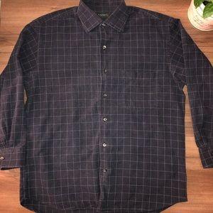 CANALI   Navy Button Down Shirt 100% Cotton
